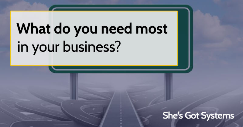 What do you need most in your business?