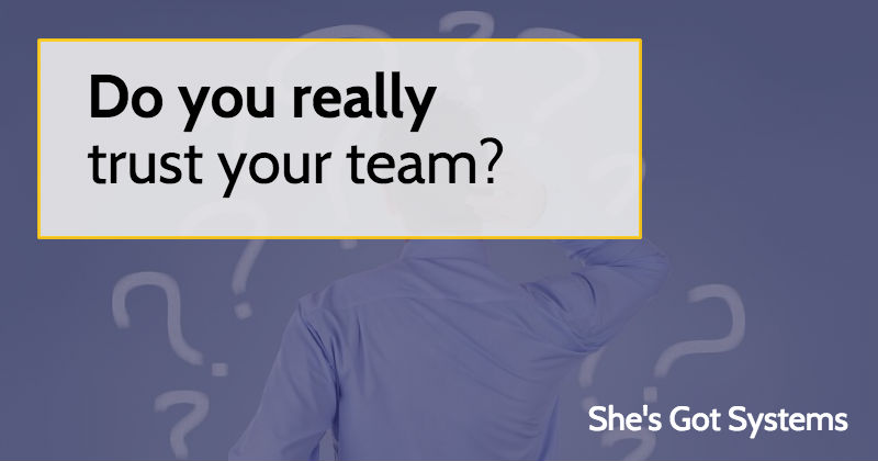 Do you really trust your team?