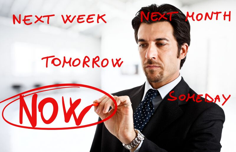 Get Past Procrastination Infographic