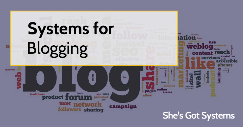 Systems for Blogging