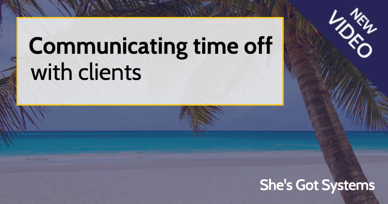 Communicating time off with clients