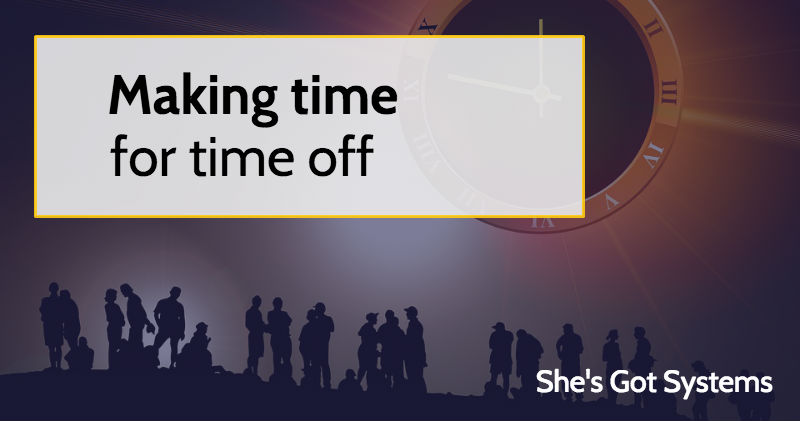 Making time for time off
