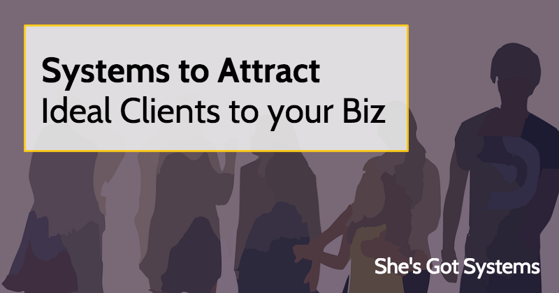 Systems to Attract Ideal Clients to your Biz