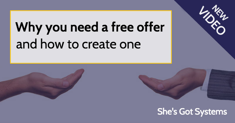 Why you need a free offer and how to create one