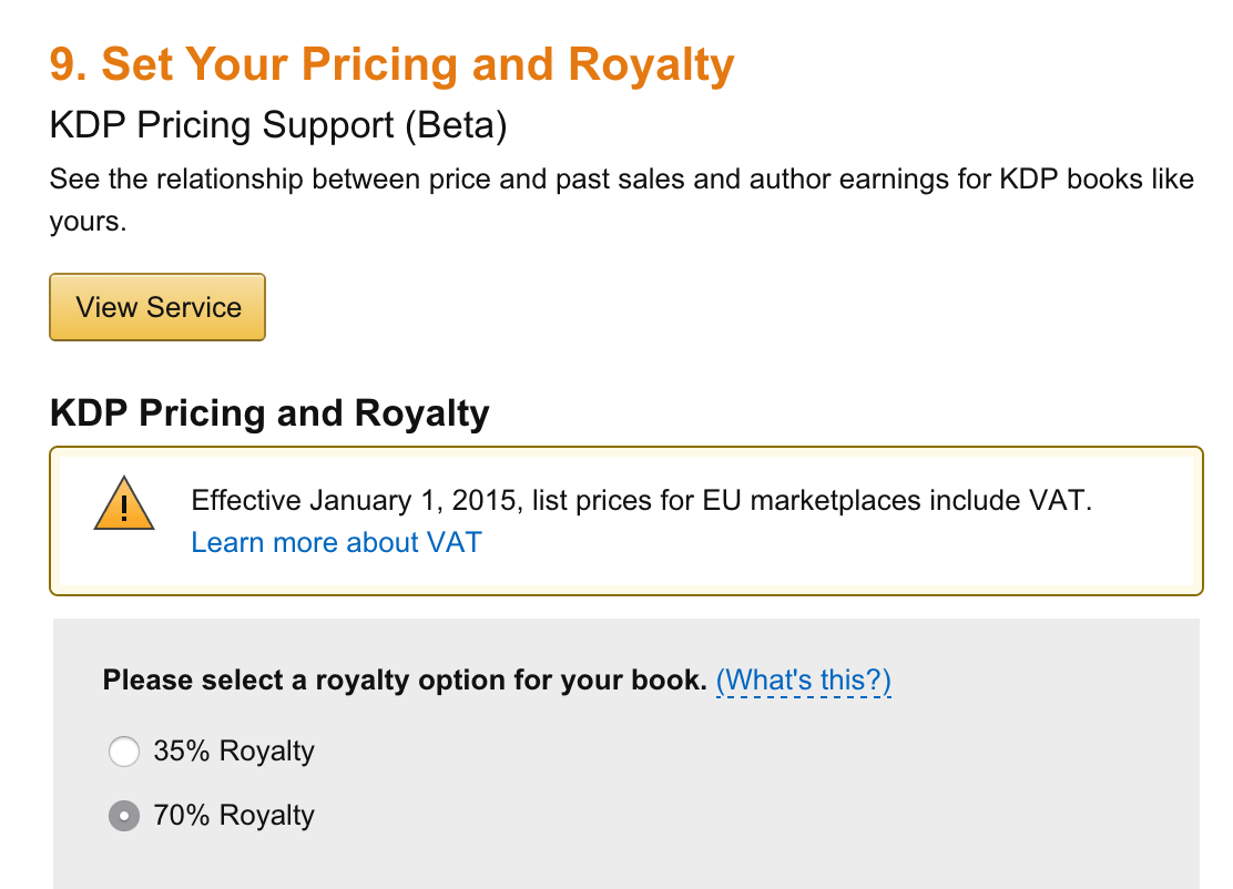 Kindle pricing and taxes