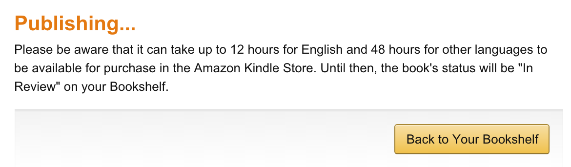 Kindle ready for review