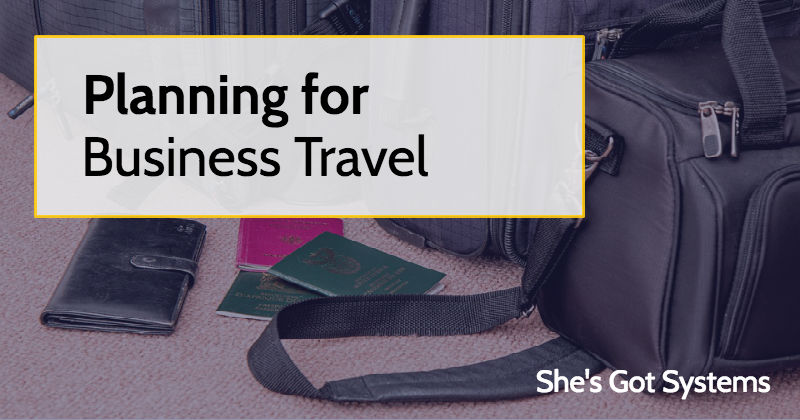 Planning for Business Travel