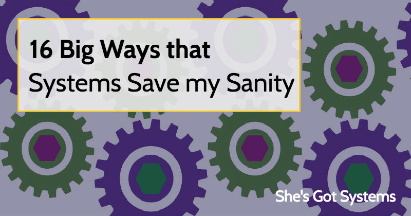 16 Ways that Systems Save my Sanity