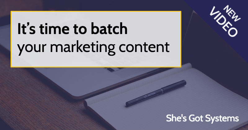 It's time to batch your marketing content