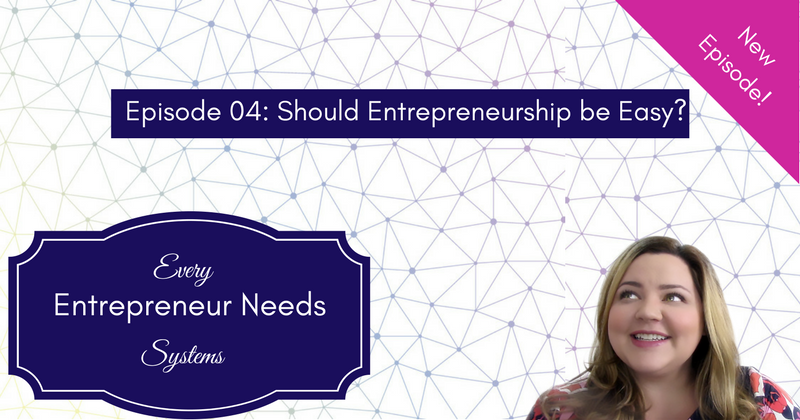 Should Entrepreneurship be Easy?