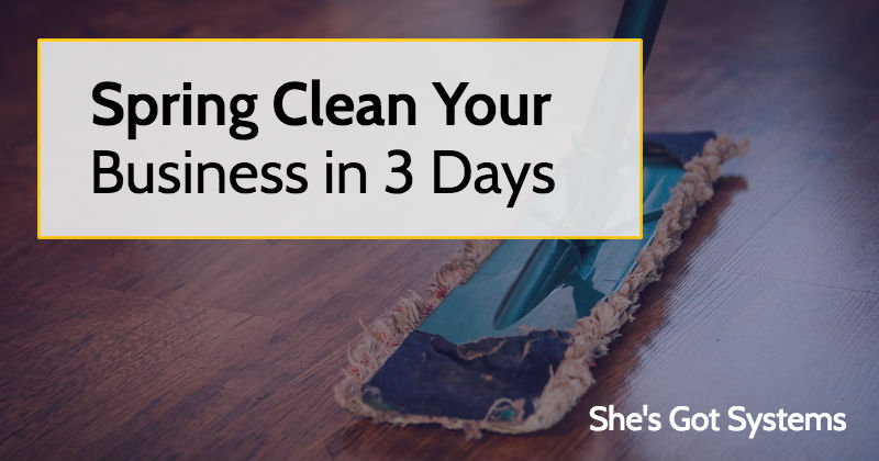 Spring Clean Your Business in 3 Days