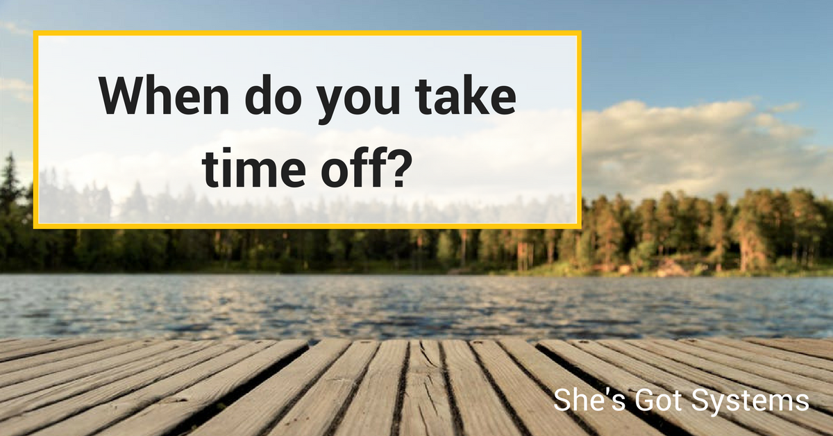 When do you take time off