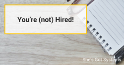 You're not Hired