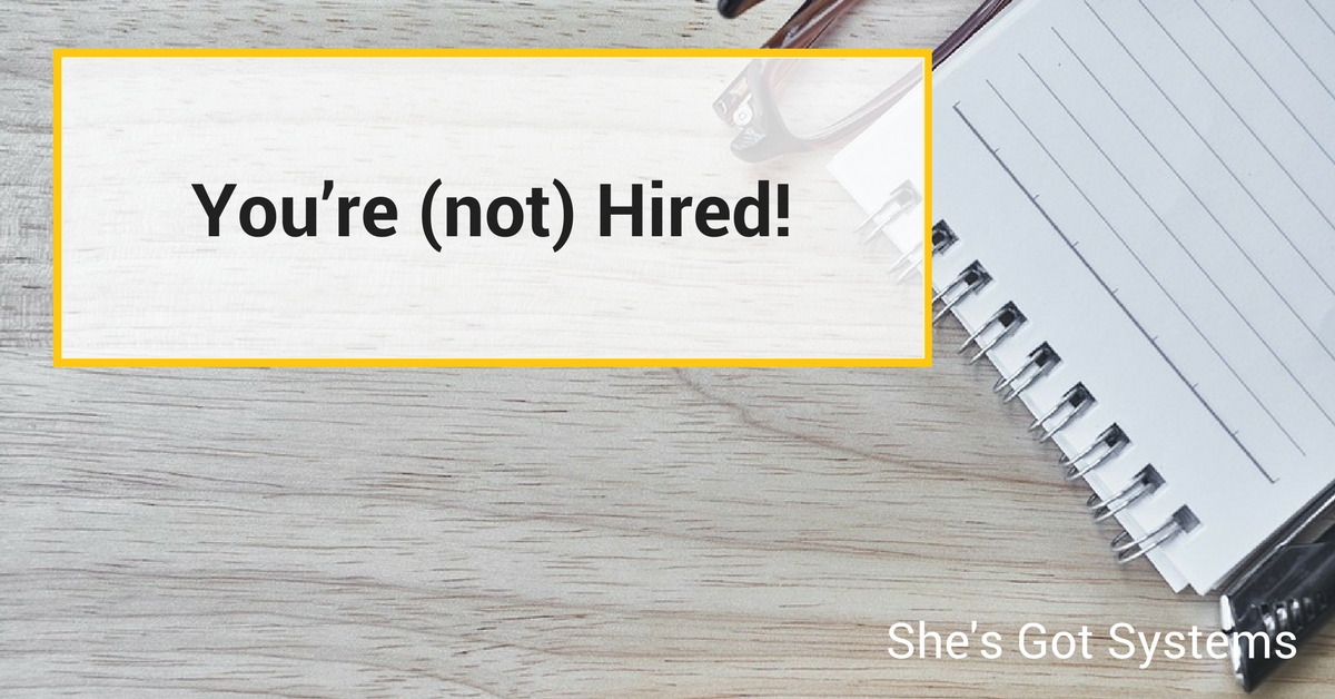 You're (not) Hired!
