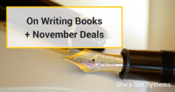 On Writing Books + November Deals